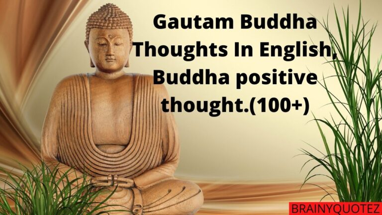 Gautam Buddha Thoughts In English, Buddha positive thought.(100+)